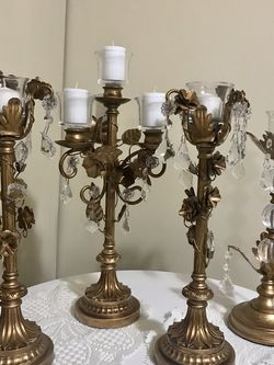 "Available Set Of 4 Candle Holder With Free Candles 18""&16"" H For $120 All Cash Only Pick Up Gaithersburg Md20877 Cash Only for Sale in Gaithersburg,  MD"