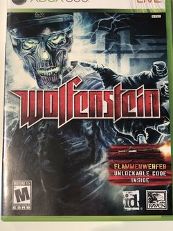 Xbox 360 Wolfenstein for Sale in Puyallup,  WA