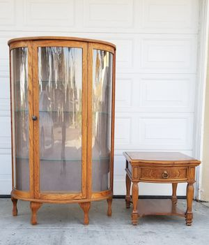 SOLID WOOD DISPLAY CABINET, FIRM PRICE, READ DESCRIPTION FOR DETAILS for Sale in Westminster, CA