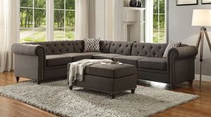 Just Aurelia sectional sofa and ottoman for Sale in Miami, FL