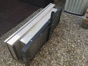 "Aluminum truck box with hitch carrier. Box by its self will fit an S10 size pickup. If not marked ""sold"" it is still available. for Sale in Burlington, NJ"