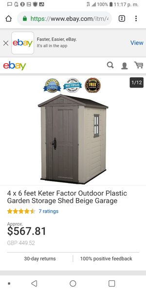 Outdoor storage shed 4x6 - fully built for Sale in Henderson, NV