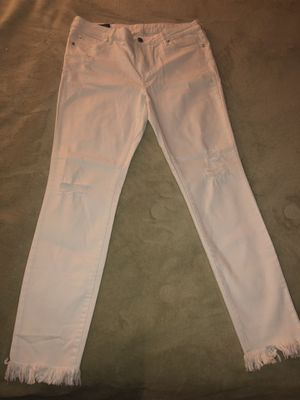 Limited Addition Armani Exchange beautiful white distressed jeans (Size 31) for Sale in Falls Church, VA