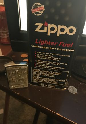 Jim beam zippo and zippo refill fluid 12fl oz for Sale in Sellersville, PA