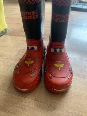 Lightning McQueen rain boots for Sale in Sicklerville, NJ
