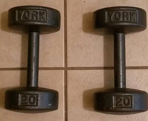 York Cast Iron 20 lb Weights - $40 for Sale in Oak Forest, IL