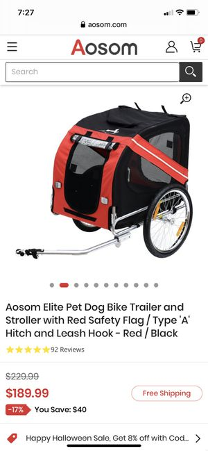 Dog bike trailer. Great condition. Must sell. for Sale in Miami, FL