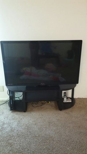 Emerson 45 inches HDMI LED TV with table and Amazon fire Tv stick for Sale in Tracy, CA
