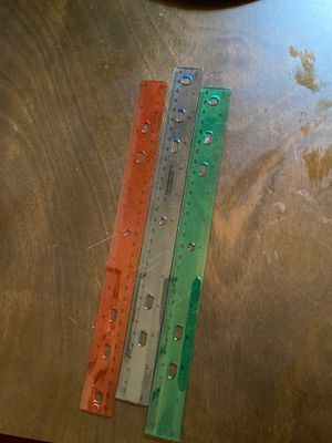 3 Clear Plastic Rulers - RGB for Sale in Ithaca, NY