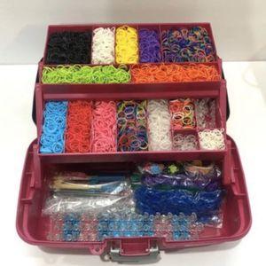 Rainbow Loom Complete Storage Bundle Lot Kit (Loom, Bands, Clips, etc.) for Sale in Perris, CA