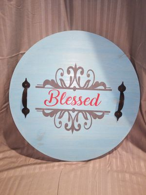 """Wooden Sign """" Blessed"""" for Sale in Duluth, GA"""
