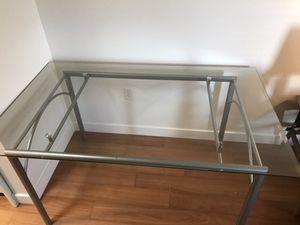 Large Glass / Metal Work Table or Desk for Sale in Salt Lake City, UT