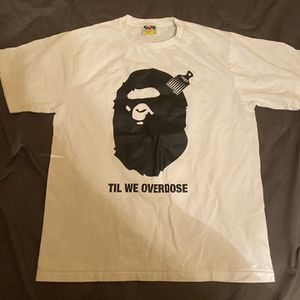 BAPE XO The Weeknd Large White Til We Overdose Graphic T-Shirt for Sale in Miami, FL