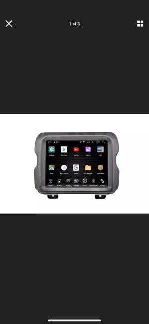 """2018-19 JEEP WRANGLER 8.4"""" 2 DIN T-STYLE ANDROID RADIO BT / WIFI TA-JPL08-4RR-1 for Sale in Akron, OH"""