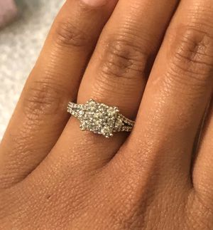10kt white gold Zale engagement ring size 5!!! 1,000 obo for Sale in Lynchburg, VA