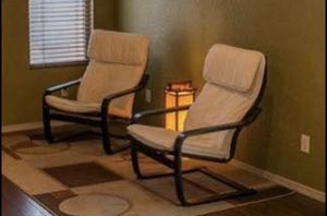 Two White Lounge Chairs for Sale in Tucson, AZ