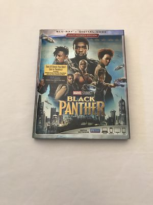 """Blu-Ray + Digital """"Black Panther"""" Disc Like New for Sale in Reedley, CA"""
