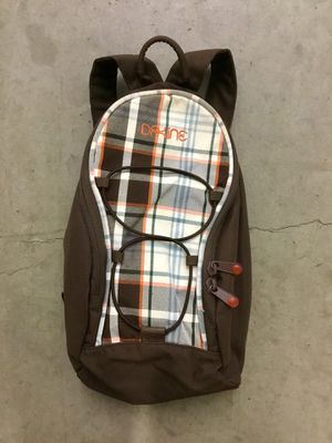 Dakine small backpack, brown, plaid for Sale in Los Angeles, CA
