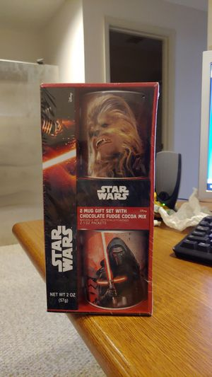 Star Wars two mugs hot fudge cocoa mix set for Sale in Germantown, MD