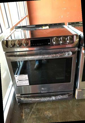 Brand New LG Dark Stainless Steel Electric Slide-in Stove🔥 JU5 for Sale in Ontario, CA