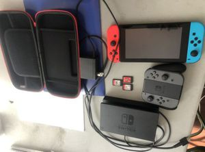 Nintendo switch with games and controllers for Sale in Washington, DC