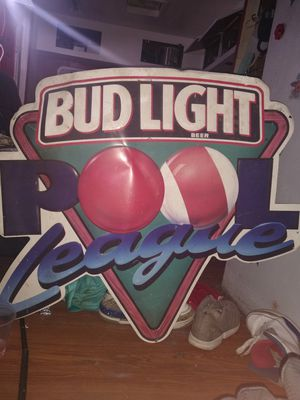 1993 bud light pool league metal sign for Sale in Los Angeles, CA