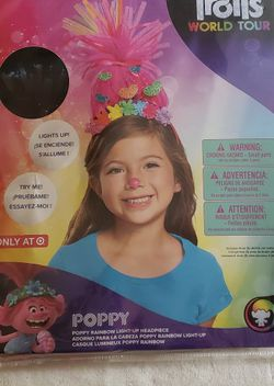 Trolls Poppy Rainbow Light Up Headband for Sale in Puyallup,  WA