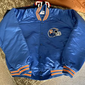 Vintage Denver Broncos Satin Chalkline Jacket Size Large Starter for Sale in Stockton, CA