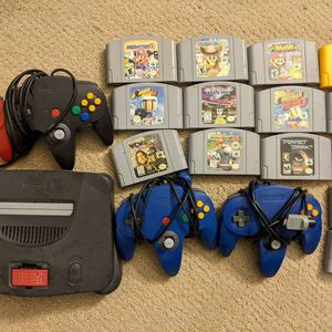 Nintendo 64 With Games for Sale in Seekonk, MA