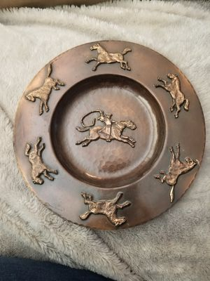 Vintage Copper Horse Decor Plate for Sale in Chino Hills, CA