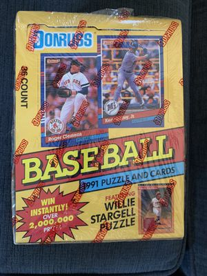 DONRUSS Baseball Card Box Sealed Series 1 from 1991 for Sale in Chino, CA