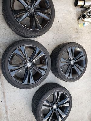 "Rims with tires 5 lugs fit honda crv and civic 18"" rims for Sale in Queens, NY"