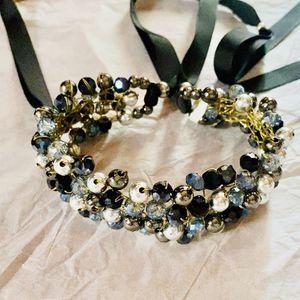 Swarovski Blue Topaz Beaded Gemstones Choker Necklace for Sale in Lorton, VA