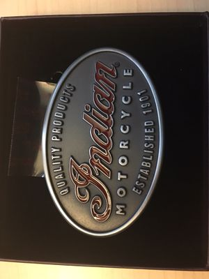 Indian motorcycle belt buckle and passenger seat for Sale in Redlands, CA