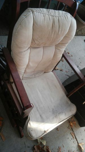 Rocker glider chair with ottoman needs cleaning for Sale in Fresno, CA