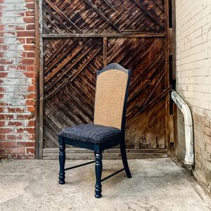 2 Cane-back Vintage / Newly Refinished Dining Chairs for Sale in Denver, CO