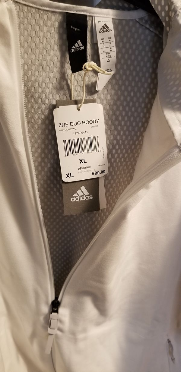 Adidas zip-up hoodie. Size XL. Brand new with tags. Please check out my page for other items. Thanks