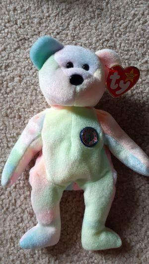 Very rare Birthday Bear TY beanie baby for Sale in Kent, WA
