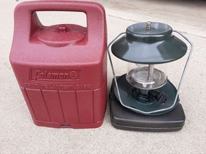Coleman camping lantern with case for Sale in Rancho Cucamonga, CA