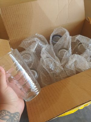 10 glass cups for Sale in College Place, WA