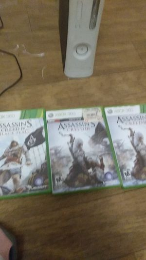 Assassin's Creed Black flag assassin Creed 3 for Sale in Brownsboro, TX