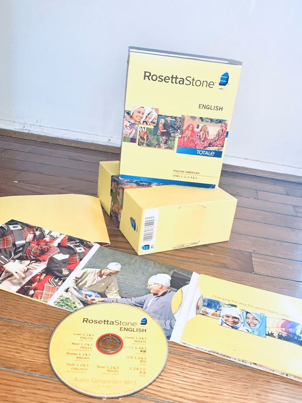 Rosetta Stone English learning 6 CD like new
