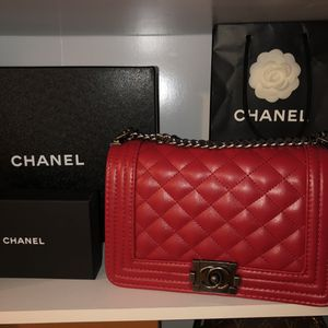 Red Chanel Boy Bag for Sale in Rancho Cucamonga, CA