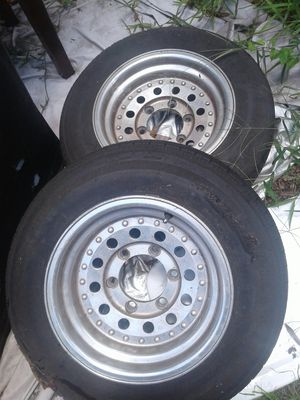 "Two 6 lug 5.5 bolt pattern 14"" Aluminum wheels for Sale in Tampa, FL"