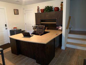 Brown U-Shape Office Desk for Sale, used for sale  Newark, NJ