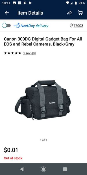 Set of 2 Canon 300DG Digital Gadget Bag for EOS & Rebel Cameras - Black/Gray for Sale in Houston, TX