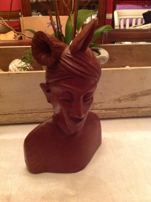 Wood carved woman bust for Sale in Raleigh, NC