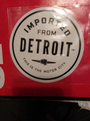 Detroit motor city sticker for Sale in Wausau, WI