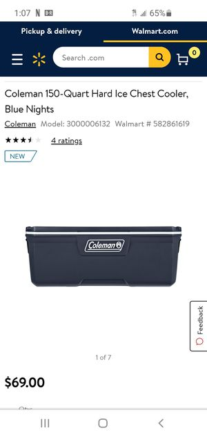 Brand new Coleman 150 quart hard ice chest cooler for Sale in Visalia, CA