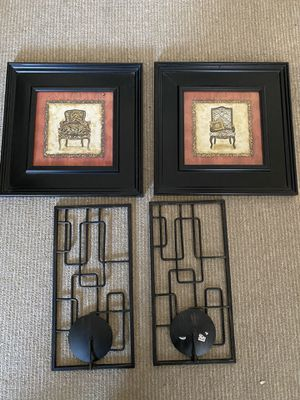 Pictures and candle holders for Sale in Washington, DC